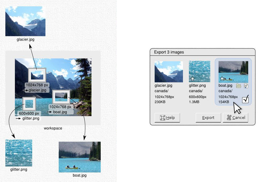gimp export multiple layers to pdf